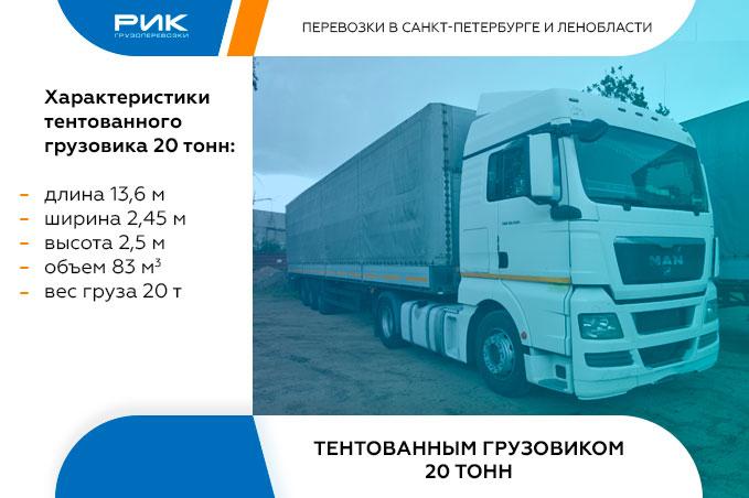 Картинка внутригородские перевозки тент 20 тонн
