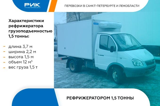 Картинка внутригородские перевозки рефрижераторами 1,5 тонны